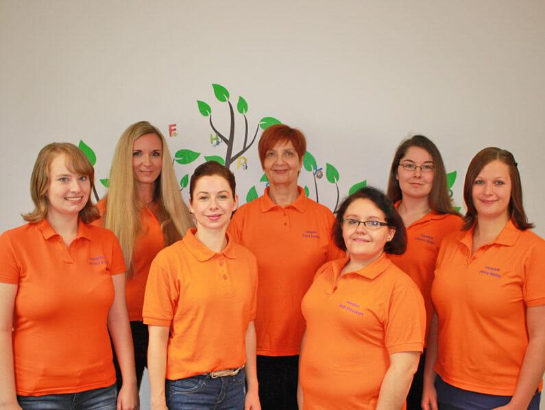 Logopädin Petra Ziethen mit Team